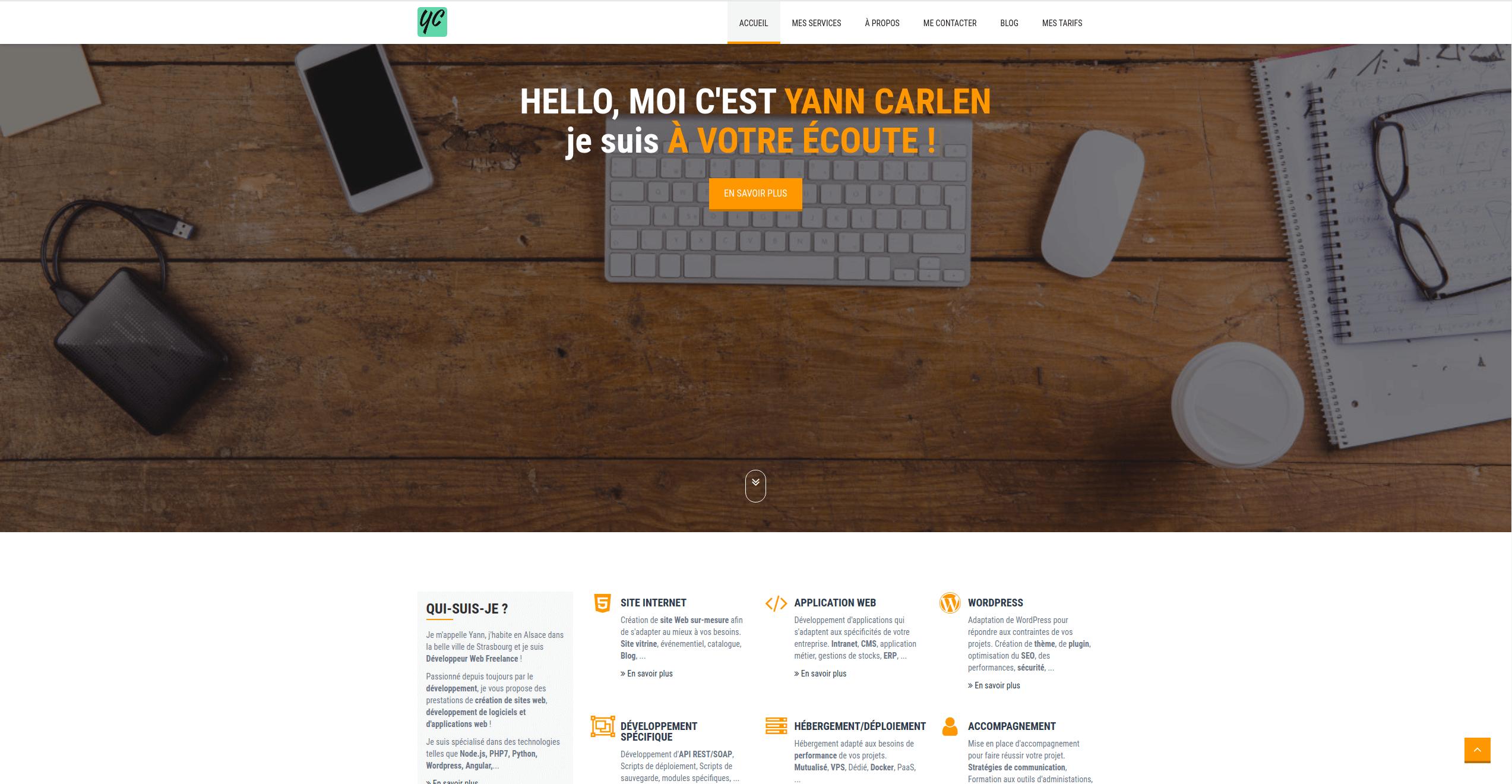 Yann Carlen - Yann Carlen - Développeur Web Freelance