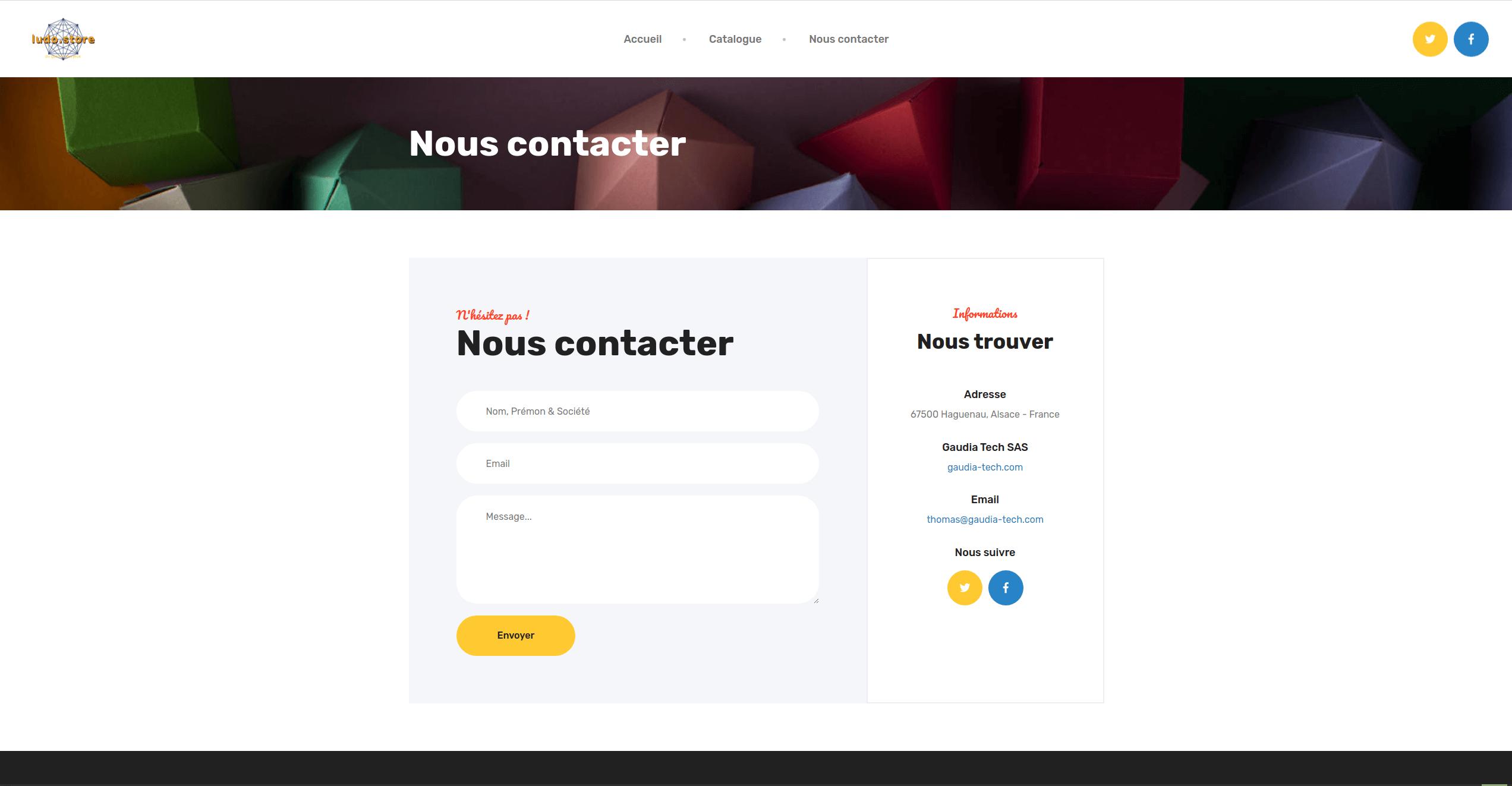 Gaudia Tech - Formulaire de contact